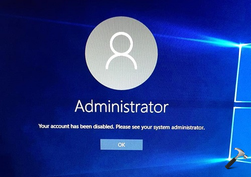 FIX - Your Account Has Been Disabled. Please See Your System Administrator
