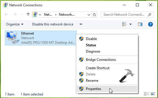 device or resource dns server is not responding windows 7