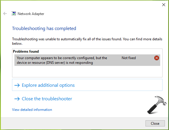 FIX Your Computer Appears To Be Correctly Configured, But The Device Or Resource (DNS Server) Is Not Responding