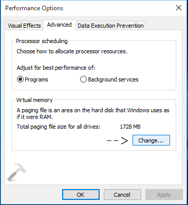 FIX Your Computer Is Low On Memory Warning In Windows 10