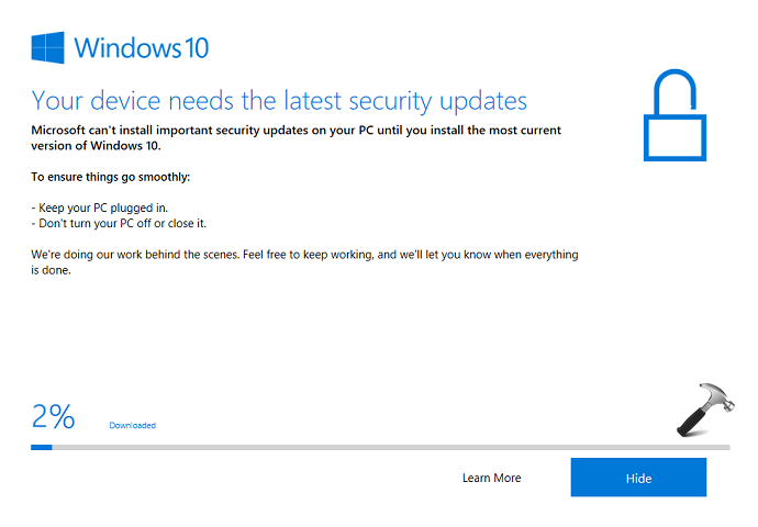 FIX 'Your Device Needs The Latest Security Updates' In Windows 10