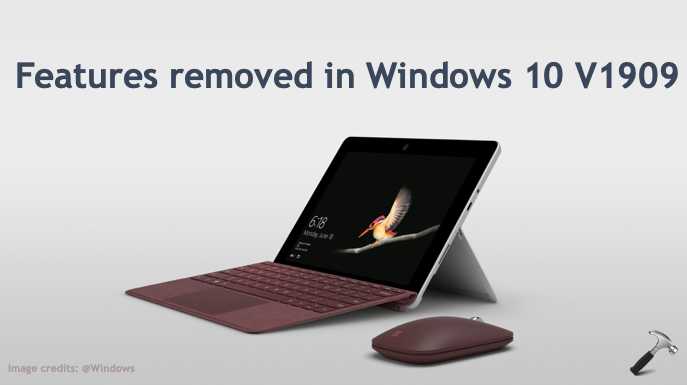 List Of Features Removed In Windows 10 V1909