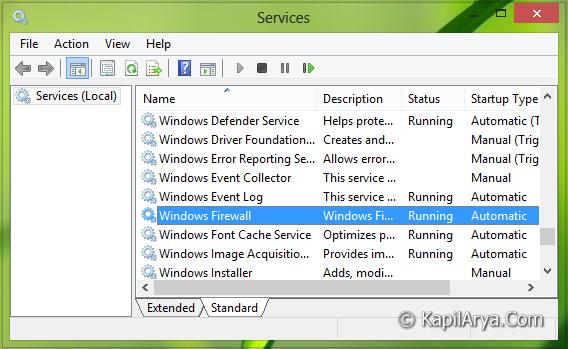 dienst windows xp firewall