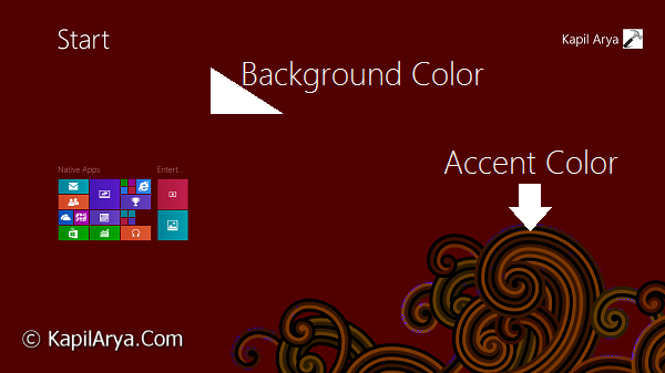How to force windows 8 1 for specific accent for What is accent color