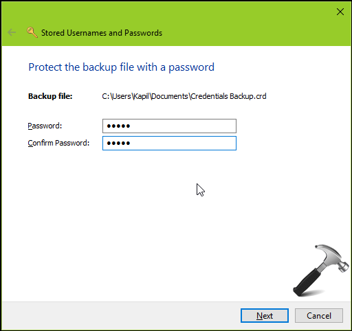 How To Backup And Restore Credentials In Windows 10