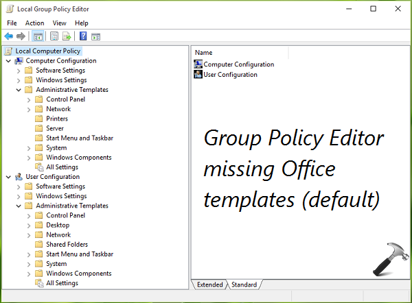 guide install office 2016 group policy templates in windows 10
