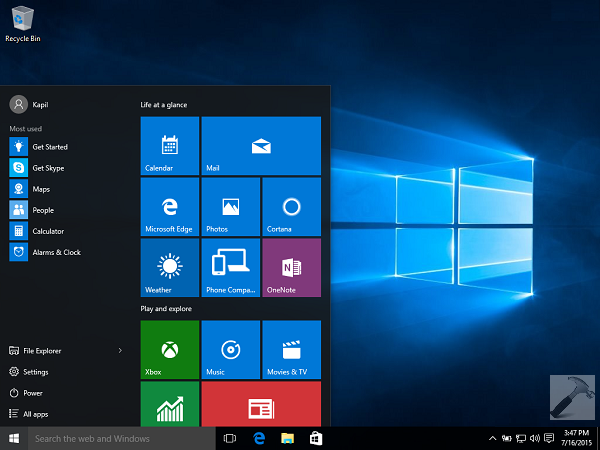 how to make your background clear in windows 10