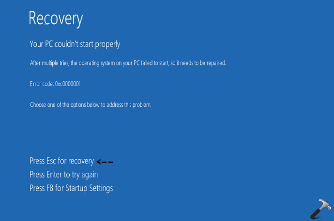 How To Access Advanced Recovery Options In Windows 10