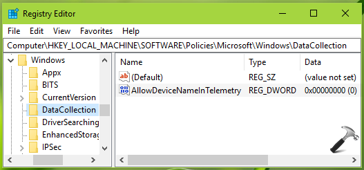 How To Allow/Prevent Device Name To Be Sent In Windows 10 Diagnostic Data