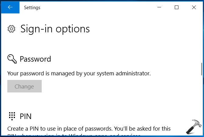 How To Allow/Prevent Users From Changing Password In Windows 10