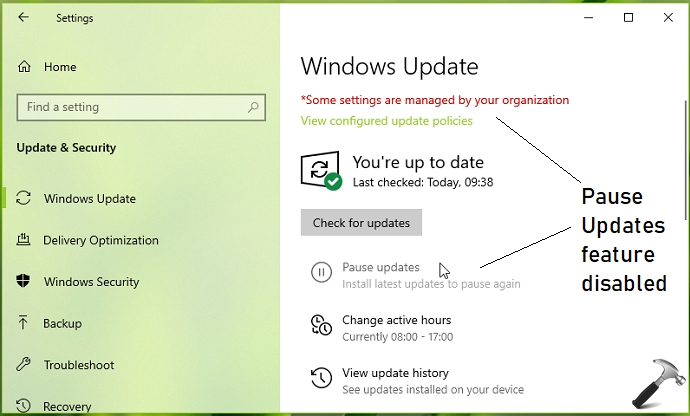 How To Allow/Prevent Users To Pause Updates In Windows 10