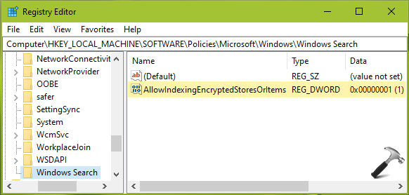 How To Allow Windows 10 To Index Encrypted Files