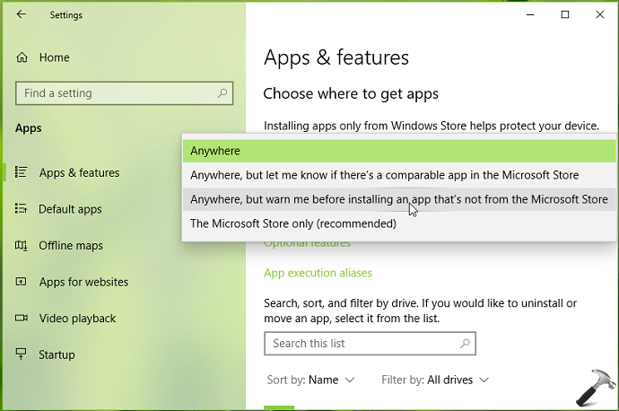 How To Block Allow Apps From Anywhere In Windows 10