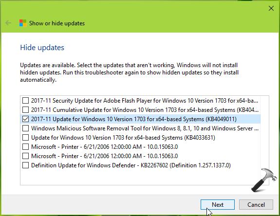 How To Block Specific Windows Update In Windows 10