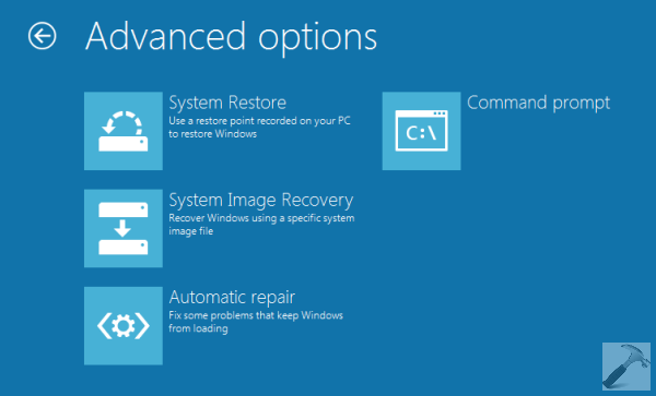 How To Boot Into System Recovery Options For Windows 8.1 3