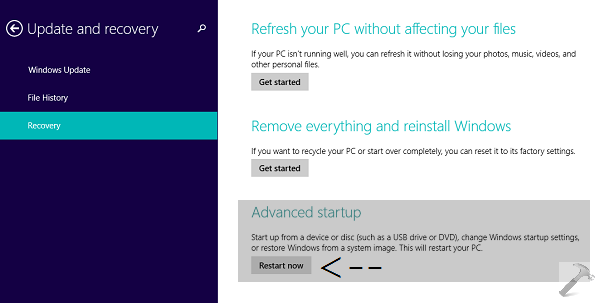 How To] Boot Into System Recovery Options For Windows 8 1