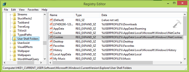 [How To] Change Cookies Folder Location For Internet Explorer 11