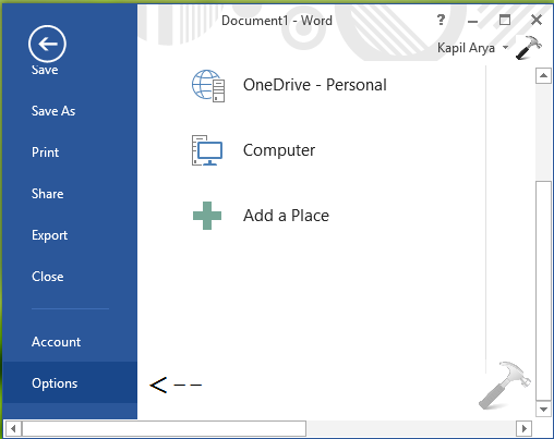 How To Change Custom Office Templates Folder Location In Office 2013