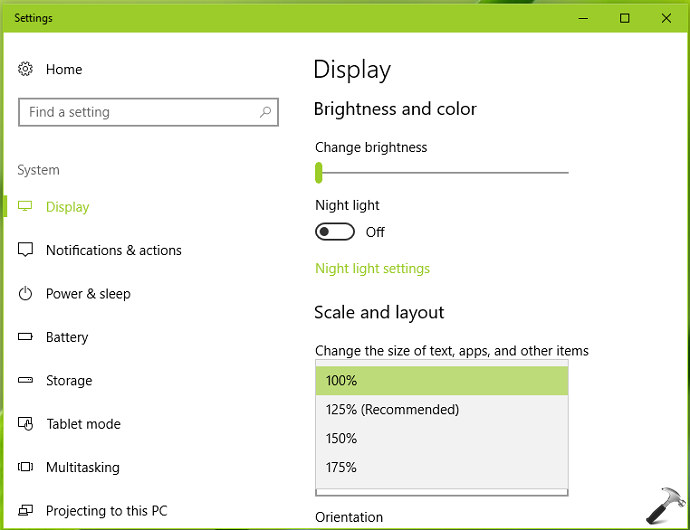 How To Change DPI Scaling Level In Windows 10