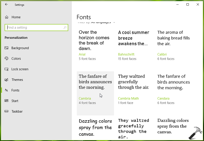 How To Change Default Font In Windows 10