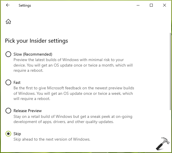 How To Change Insider Preview Ring Level In Windows 10