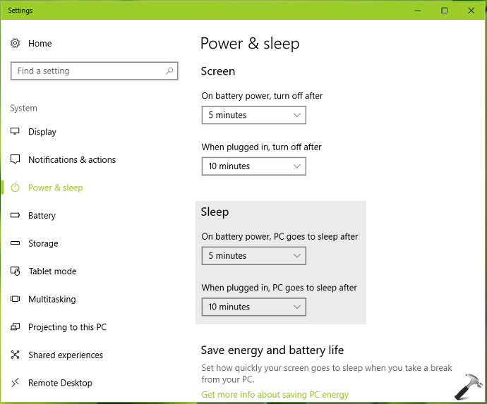 How To Change Sleep Settings On Windows 10