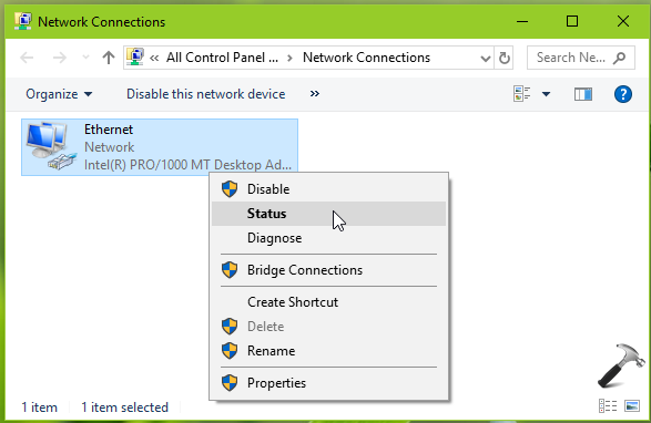 How To Check Network Adapter Speed In Windows 10