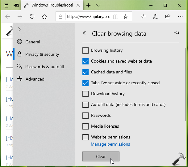 How To Clear Browsing Data In Microsoft Edge