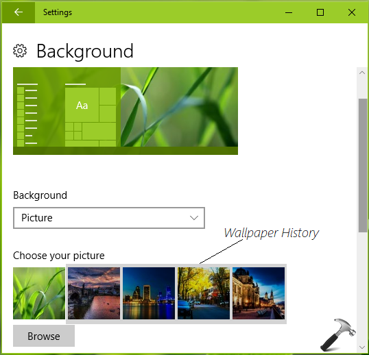 How To Clear Wallpaper History In Windows 10