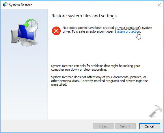 How To  Configure And Use System Restore In Windows 10
