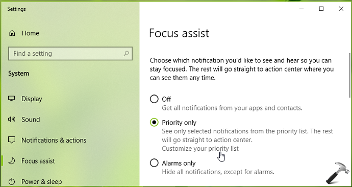 How To Configure Focus Assist In Windows 10