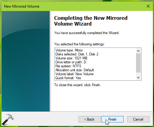 How To Configure Mirrored Volume In Windows 10