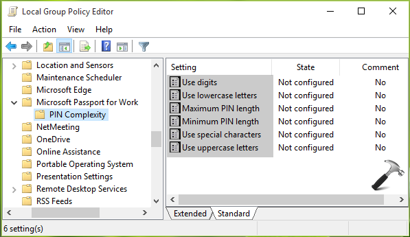 How To Configure PIN Complexity In Windows 10