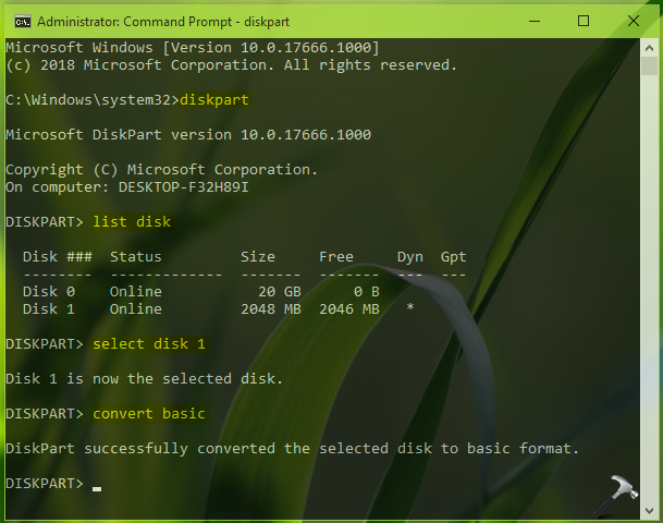 How To Convert Dynamic Disk Into Basic Disk In Windows 10