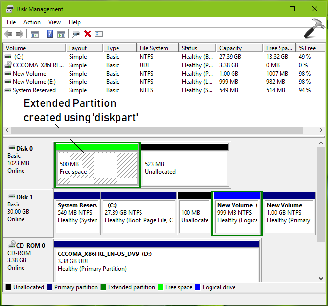 How To Create Extended Partition In Windows 10