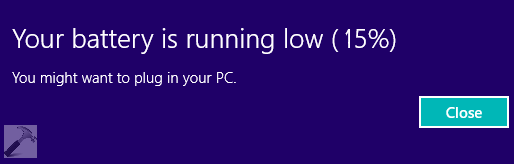 Windows 8 1 Change Battery Charge Level : How to customize low battery notification level in