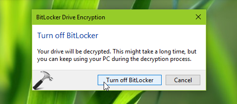 How To Turn Off BitLocker For Operating System Drive In Windows 10