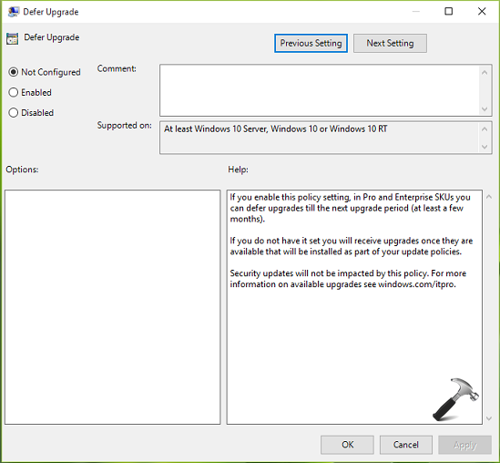 How To Defer Upgrades In Windows 10 Using Group Policy