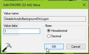 How To Disable Acrylic Effects On Login Screen In Windows 10
