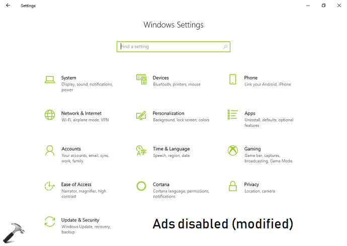 How To Disable Ads In Settings App On Windows 10