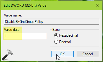 How To Disable Background Refresh Of Group Policy In Windows 10