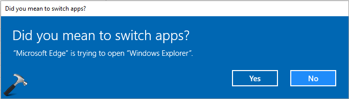 How To Disable 'Did You Mean To Switch Apps' In Microsoft Edge
