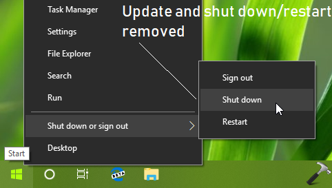 How To Remove Update And Shutdown In Windows 10