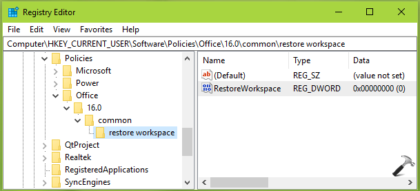 How To Disable 'The Document Recovery Task Pane Contains Some Recovered Files That Have Not Been Opened' For Office 2016/13/10