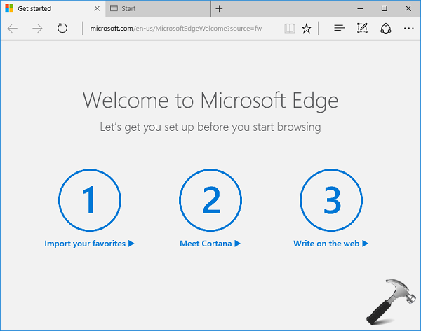 How To Disable Welcome Page For First Run In Microsoft Edge In Windows 10