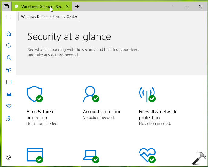 How To] Disable Windows Defender Security Center In Windows 10
