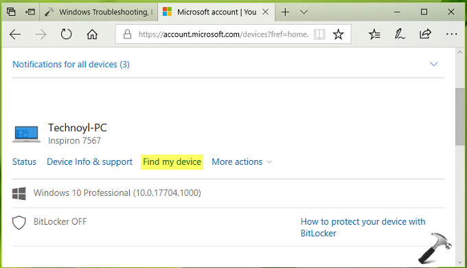 How To Enable And Use Find My Device In Windows 10