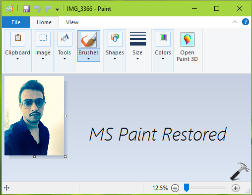 How To Enable Classic Paint App In Windows 10 Creators Update