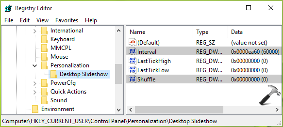 How To Enable Desktop Slideshow In Windows 10