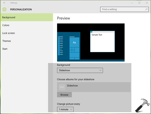 How To Enable Desktop Slideshow In Windows 10